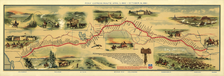 Pocket Miracles Pony Express Map